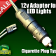 12v Cigarette Plug Adapter Power Cord for LED Fishing Lights