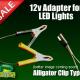 12v Alligator Clip Power Source for LED Fishing Lights